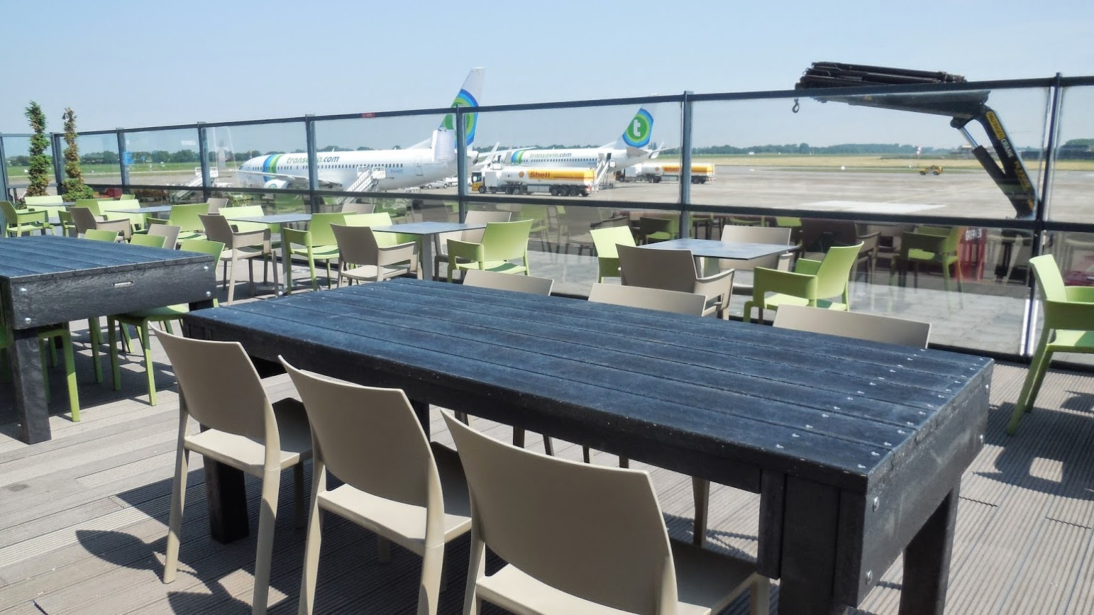 Terrasmeubilair vliegveld